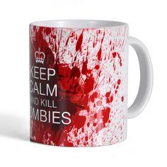 Taza Killing Zombies - 300 ml - blanca - tazón de café de cerámica: Amazon.es: Juguetes y juegos