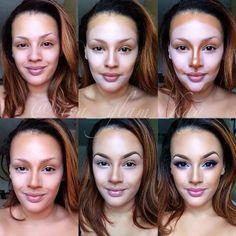 How to Contour & Highlight!  #makeup #magic #contour #highlight #Saudibeautyblog #ksa #saudi