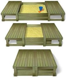 sliding lid sandpit... daddy project!