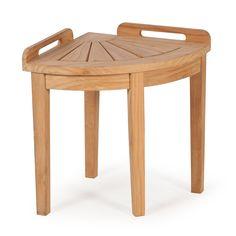 n bright shop shower corner bench teak bamboo stool spa bathroom rh pinterest com
