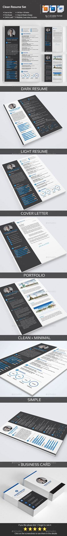 Professional Resume Template for Word \ Pages, Resume Cover Letter - free resume template downloads for word