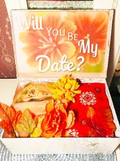 Date night box. fall date night youarebeautifulbox. date night ideas. date ideas. date night gift. seasonal date night box Date Night Gifts, Woman Meme, Fall Dates, Perfect Gift For Girlfriend, Flower Collage, I Love You Baby, Funny Dating Quotes, Fake Flowers, Online Dating
