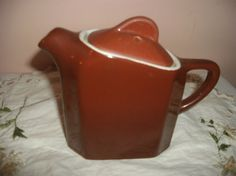 Vintage Hall Pottery Single Serving Teapot Brown by MEMORIESNMORE, $10.00