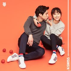 'Reply 1988' couple Go Kyung Pyo and Ryu Hye Young get chummy for 'K-Swiss' | allkpop.com