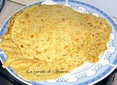 Una ricetta versatile ed economica:le Crespelle di farina di ceci ricetta base.Tu come le farciresti??