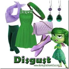Disney Bounding With The Disney Fashionista- Disgust From Inside Out!