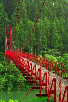 Red Bridge,Zao Bridge, Aridagawa, Wakayama, Japan. | Wonderful Places
