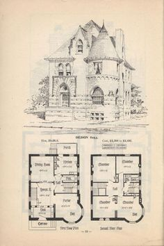 Artistic city houses, no. 43 – Would need a few changes but I really like it. Artistic city houses, no. 43 – Would need a few changes but I really like it. Victorian House Plans, Vintage House Plans, Antique House, Victorian Homes, Gothic House, Victorian Gothic, The Plan, How To Plan, Victorian Architecture