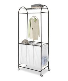 Another great find on #zulily! Espresso & White Laundry Center by Whitmor #zulilyfinds