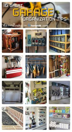 Check out these easy and cheap storage ideas for your garage. These organization. - Check out these easy and cheap storage ideas for your garage. These organization tips and projects - Organisation Hacks, Garage Organization Tips, Workshop Organization, Organizing Ideas, Garage Storage Solutions, Workshop Ideas, Garage Shed, Man Cave Garage, Garage Workshop