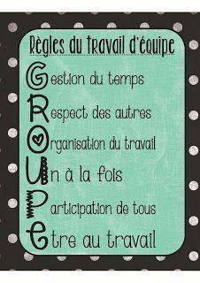 Les Regles Du Travail D Equipe Rules For Group Work Bizness