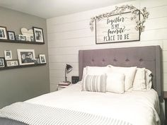 30 Things to Do With the Empty Space Over Your Favorite Bed - Keep Decor Pictures For Sale, Wall Art, Wall Decor, Bedroom Pictures, Picture Wall, Bedroom Wall, Bed Pillows, Pillow Cases, Ideas