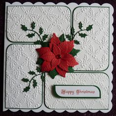 Christmas card 6 x 6 Marianne Poinsettia