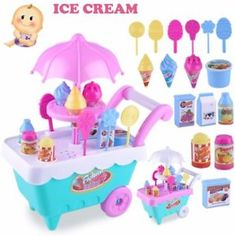 Us 463 28 Off Children Pretend Role Play Kids Gift Ice Cream Cart Play Set Kids Pretend Play Toy Food Toys Education Kids Gifts In Toys For Girls, Kids Toys, Kitchen Sets For Kids, Ice Cream Cart, Activity Toys, Activities, Interactive Toys, Pretend Play, Role Play