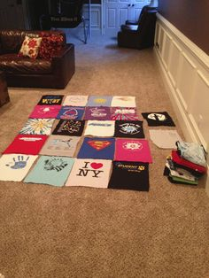 A #tutorial on making a tee quilt. This is actually a great idea, my boyfriend has lots of conference and event T-shirts lying around, I could sew him a computer nerd quilt!