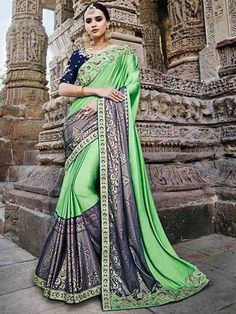 #New #Indian #Latest #Collection #Partywear #Designer #Women #Silk Saree Blouse #Material #shoppingover #PartyWear