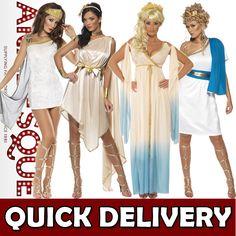 Roman Greek Goddess Toga Womens Fancy Dress Costumes