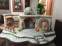 17 Best images about portales en icopor . Christmas Village Display, Christmas Nativity Scene, Christmas Villages, Nativity Scenes, Christmas Carol, Christmas Crib Ideas, Christmas Crafts, Christmas Decorations, Nativity House