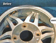 Alloy wheel before refurbishment