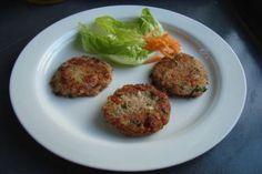 Preparar hamburguesas de quínoa, atún y verdura