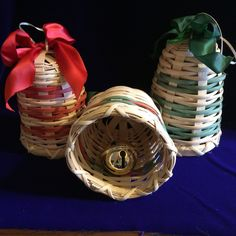 Baskets and more......: Woven Reed Ornaments