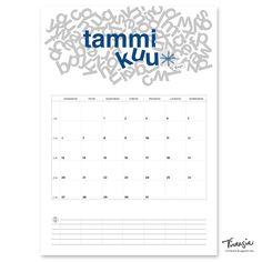 Tammikuun 2020 tulostettava seinäkalenteri #tammikuu2020 #kalenteri #tulostettava #ilmainen #calendar #january2020 #print #free #virtasia