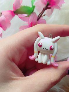 Necklace Kyubey - Madoka Magica   Anime, Magical Girl, Mahou Shoujo, Kawaii polymer clay charm