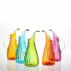 Orbix Hot Glass Optic Pitcher, in Multiple Colors