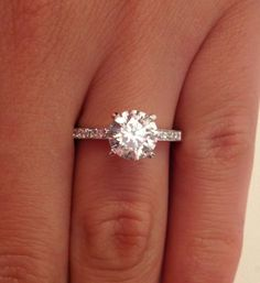 Simple and classic 1.35 CT ROUND CUT D/SI1 DIAMOND SOLITAIRE ENGAGEMENT RING 14K WHITE GOLD Check out the website to see more