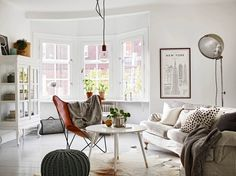 Classic and mid-century modern combined into a cozy Swedish home - via cocolapinedesign.com