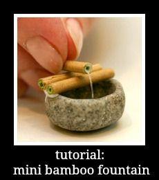 how to: mini bamboo fountain