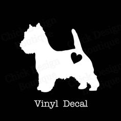 West Highland Terrier Silhouette Vinyl by ChickDesignBoutique