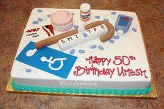 """Humorous men's birthday cake - """"over the hill birthday cake"""""""