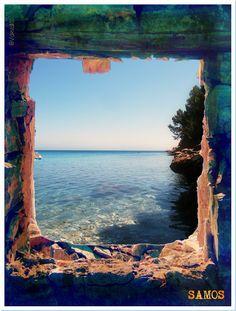Μπάλος Samos, Airplane View, Abandoned, Greece, Mountains, Greek Islands, World, Places, Nature