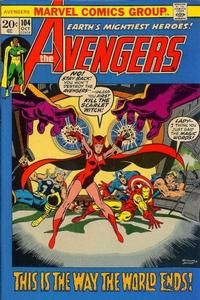 """Avenger Benjamin doesn't buckle in combat despite the Rich Buckler cover and interior! Larry Trask, whose father created the Sentinels, unleashes them again against mutants - including Wanda (pictured) and (unwittingly) himself (his precognesis qualifies). Written by """"X-Men"""" scribe Roy Thomas (trying to make fetch happen again)."""