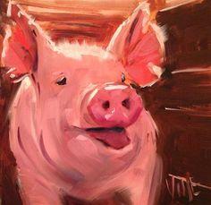 "Daily Paintworks - ""#178 Hammie"" - Original Fine Art for Sale - © Patty Voje"