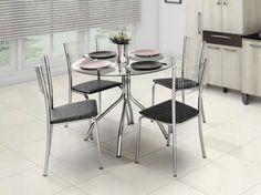 Conjunto de Mesa Aço Cromado 4 Cadeiras com as melhores condições você encontra no site do Magazine Luiza. Confira!