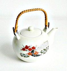 Vintage Asian Teapot Japanese Porcelain Floral by retrogroovie