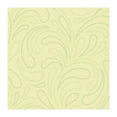 York Wallcoverings KZ4392SMP York Kids IV Scroll 8-Inch x 10-Inch Memo Sample Wallpaper Lime Green