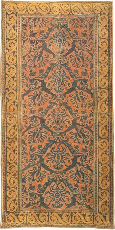 Antique 16th Century Alcaraz Oriental Rug 3288 Main Image - By Nazmiyal