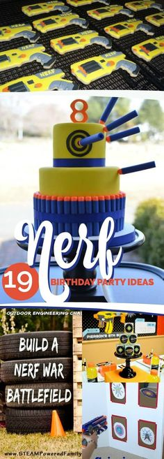 19 Incredible Nerf Party Ideas via @spaceshipslb