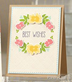 Heather Campbell, Avery Elle Petals and Stems, Handwritten Notes.  Paper Crafts Pattern Design Challenges