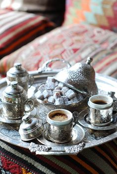 Turkish Coffee and Turkish delight - the Ottoman way. A cup for everyone :)