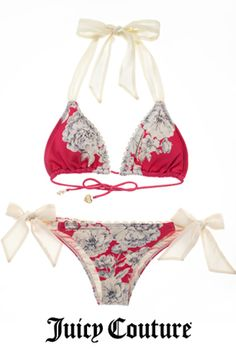 Tea Rose Triangle Bikini, Juicy Couture