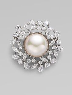 Majorica Pearl Wreath Pin