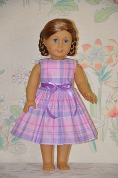 American Girl Doll Clothes Violet Purple and by DollClothesByChun. $9.99, via Etsy.