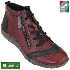 Remonte női bőr cipő D3870-85 bordó kombi