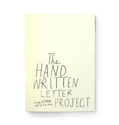 The handwritten letter project