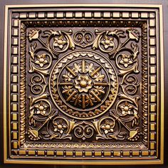 """Faux Tin Ceiling Tile - Drop In - 24""""x 24"""" #215"""