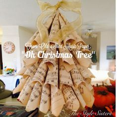 The Style Sisters: Sheet Music Paper Christmas Tree (with instructions)